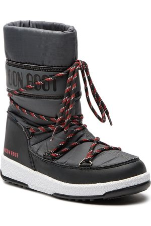 Moon Boot Śniegowce - Sport Jr Wp 34051300005 Black/Castlero