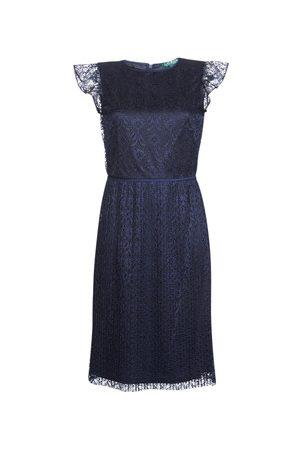 LAUREN RALPH LAUREN Sukienki krótkie LACE CAP SLEEVE DRESS