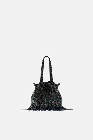 Zara MINI MULTICOLOURED FRINGED BAG
