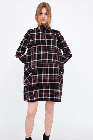 Zara Sukienki - SUKIENKA W KRATĘ