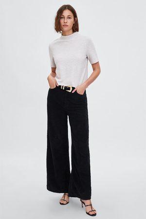Zara Koszulka z półgolfem z przyjemnej w dotyku tkaniny