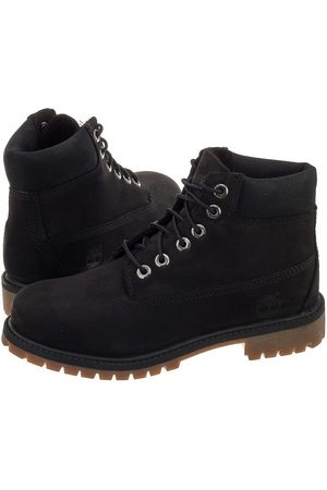 Timberland Youths 6 IN Premium WP Boot Black A11AV (TI48-a)