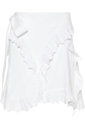 Isabel Marant Milou embroidered cotton miniskirt