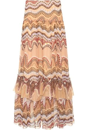 Chloé Exclusive to Mytheresa – Printed silk-crepon skirt