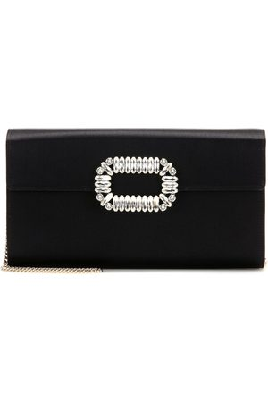 Roger Vivier Evening Envelope satin shoulder bag