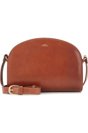 A.P.C Demi-Lune leather shoulder bag