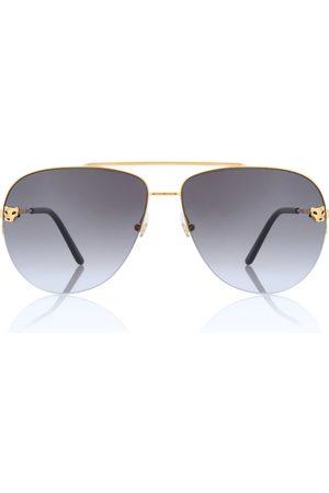 CARTIER EYEWEAR Panthère de Cartier aviator sunglasses