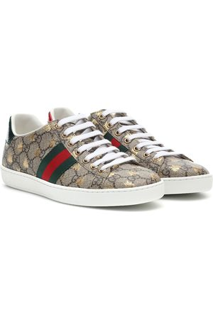 Gucci Kobieta Sneakersy - Ace leather-trimmed printed sneakers