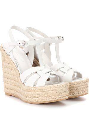 Saint Laurent Kobieta Sandały - Espadrille wedge leather sandals