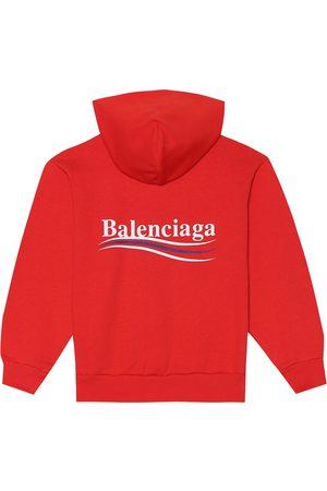 Balenciaga Kobieta Bluzy z kapturem - Cotton-blend hoodie