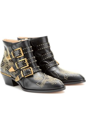 Chloé Kobieta Botki - Susanna studded leather ankle boots