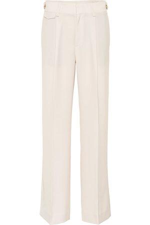 Vince Kobieta Spodnie z szeroką nogawką - Mid-rise wide-leg pants