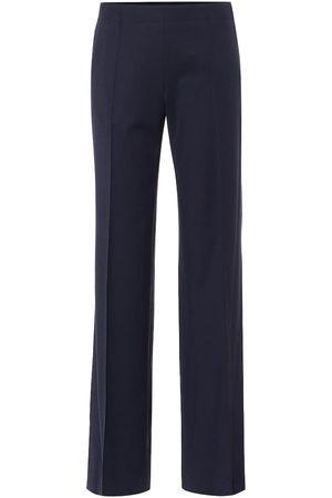 Chloé Kobieta Spodnie z szeroką nogawką - Mid-rise wide-leg wool-blend pants