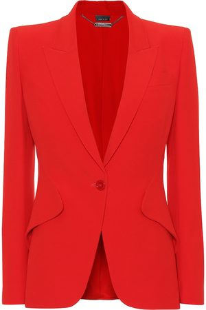 Alexander McQueen Single-breasted crêpe blazer