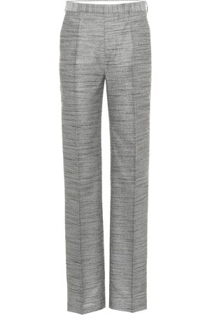 Rick Owens Cotton and silk-blend pants