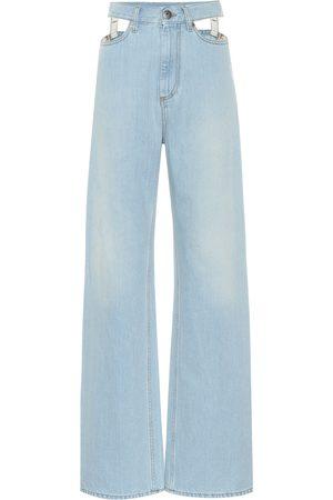 Maison Margiela Cutout high-rise wide-leg jeans