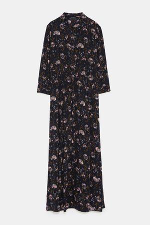 Zara FLORAL PRINT SHIRT DRESS
