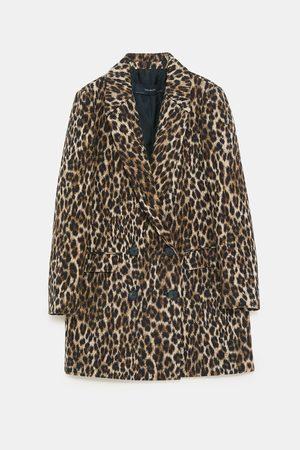 zakardowy płaszcz w panterke zara