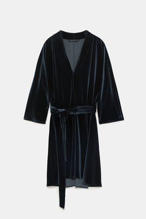 Zara Sukienki - AKSAMITNA SUKIENKA