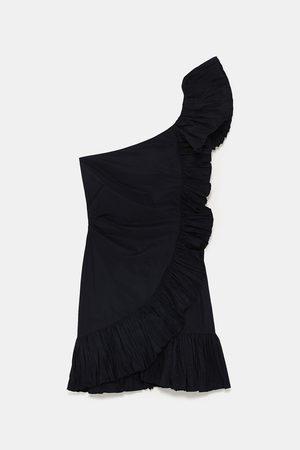 Zara Sukienki - SUKIENKA Z FALBANKĄ I MARSZCZENIEM