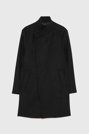 Zara Płaszcz z asymetrycznym kołnierzem