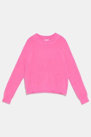 Zara Sweter z przyjemnej w dotyku dzianiny