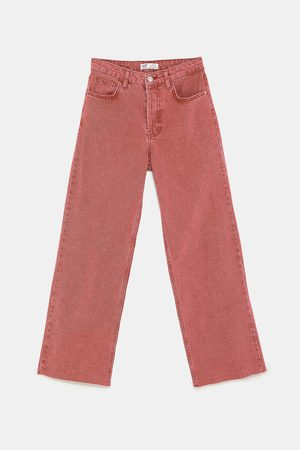 Zara JEANS WIDE LEG HI-RISE COLOR