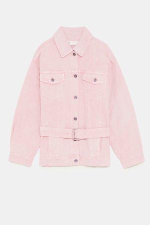 kurtka jeansowa damska rozowa