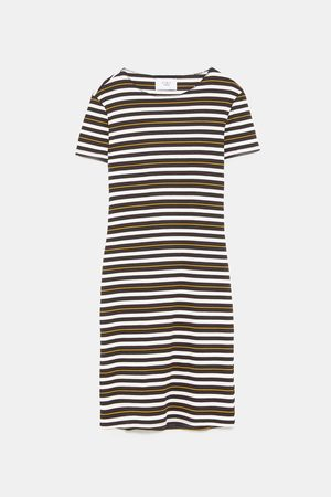Zara FITTED RIBBED DRESS