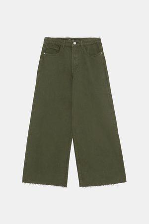 Zara Spodnie jeansowe typu culotte ze średnim stanem
