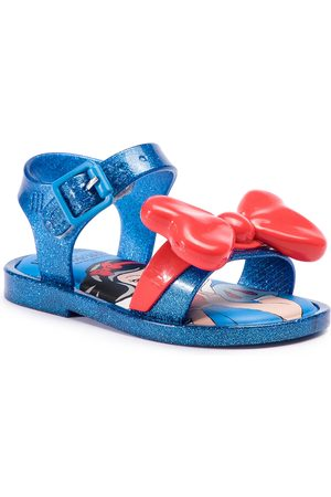 Melissa Sandały - Mini Mar Sandal+Snow 32531 Blue Glitter/Red 53412