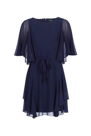 Ralph Lauren Sukienki krótkie NAVY-3/4 SLEEVE-DAY DRESS
