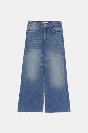 Zara Spodnie jeansowe typu culotte