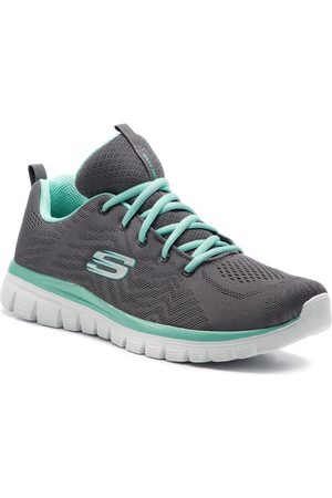 Skechers Buty - Get Connected 12615/CCGR Charcoal/Green