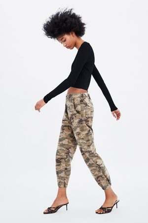 Zara CAMOUFLAGE BAGGY TROUSERS