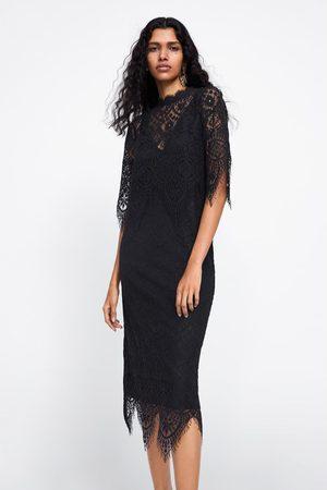 Zara Sukienka z koronkowymi wstawkami