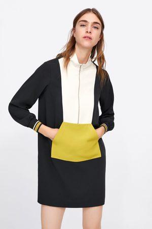 Zara Wielobarwna sukienka typu worek