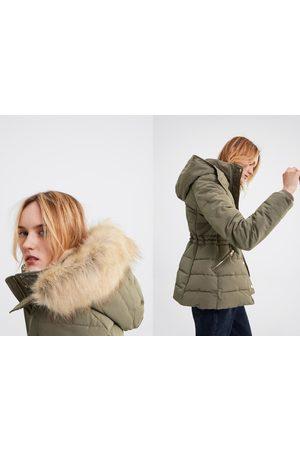 Zara Kobieta Płaszcze - Ocieplany płaszcz