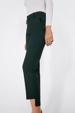 Zara Spodnie asymetrycznym wykończeniem przy mankietach nogawek