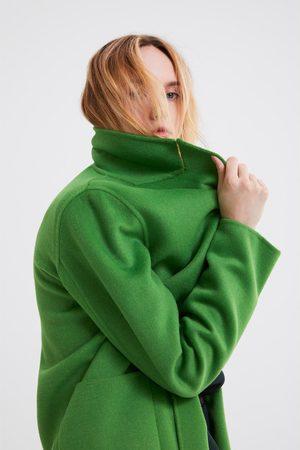 Zara Płaszcz o męskim kroju w jaskrawym kolorze