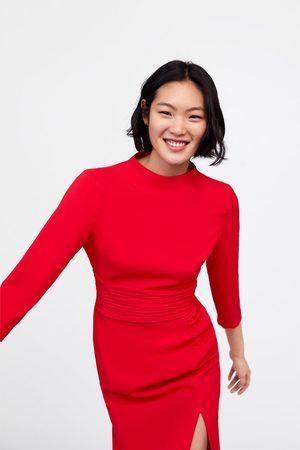 Zara Sukienka z drapowaniem