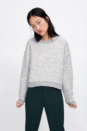 Zara Bluza z łączonych tkanin