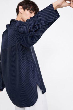 Zara Luźna bluzka w paski