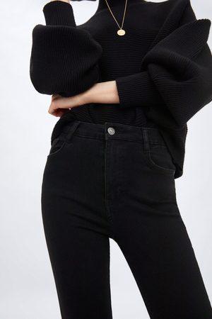 Zara Spodnie jeansowe z wysokim stanem typu sculpt