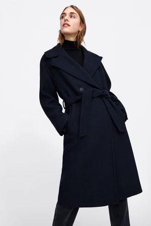 Zara Płaszcz z paskiem