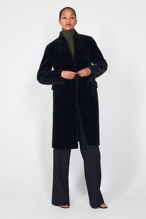 Zara Płaszcz ze sztucznego futerka