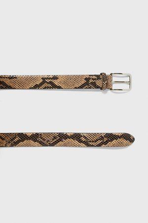Zara Pasek z nadrukiem imitującym skórę węża