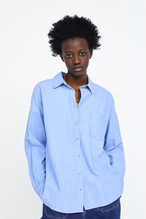 Zara Koszula jeansowa oversize