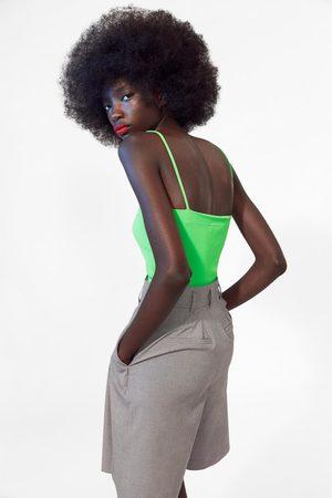 Zara Body na ramiączkach w jaskrawym kolorze