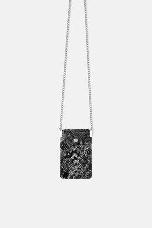 Zara Winylowe etui na telefon komórkowy typu torebka listonoszka w zwierzęcy deseń